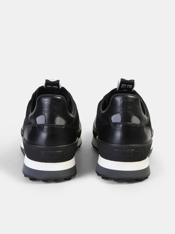 GIVENCHY - Nylon and leather logo sneakers