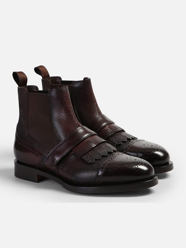 ac2b68caf71ca4 Boots - SANTONI - Beatles leather ankle boots