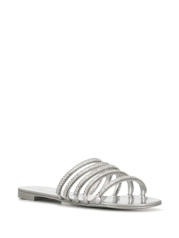 GIUSEPPE ZANOTTI - Embellished leather sandals