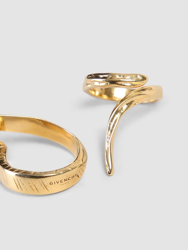 GIVENCHY - Set of two brass rings