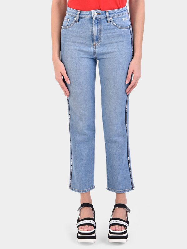 MSGM - Side bands denim jeans