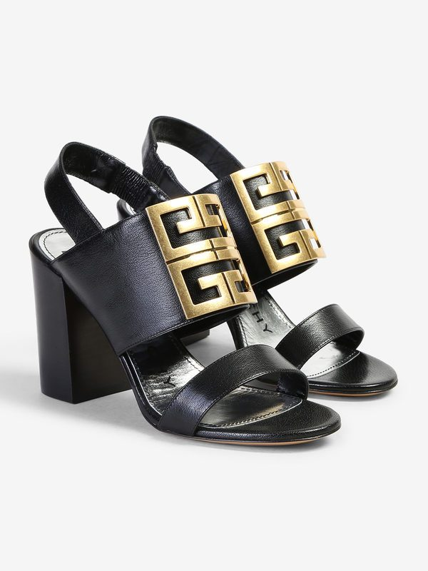 GIVENCHY - Logo insert leather sandals