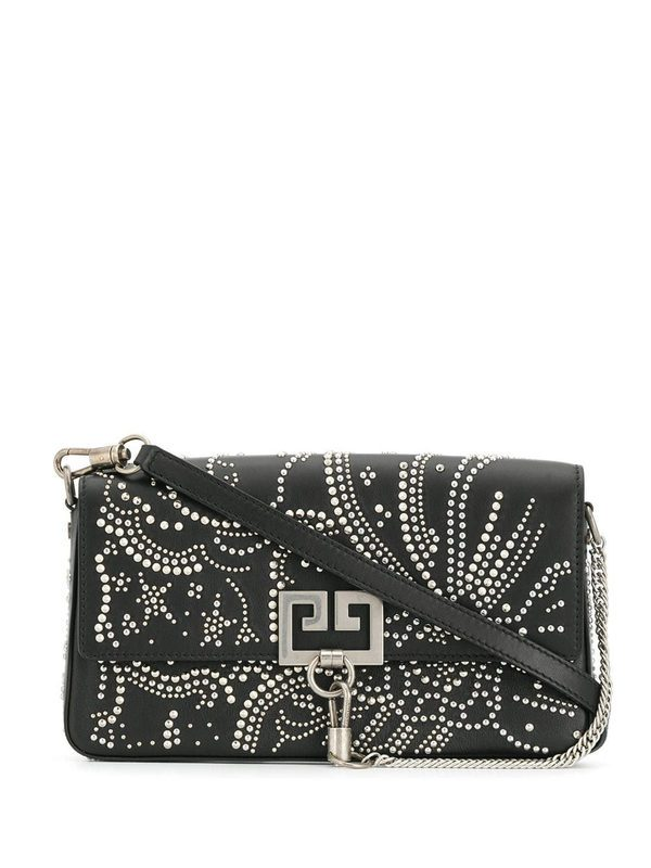 GIVENCHY - Charm studded leather bag