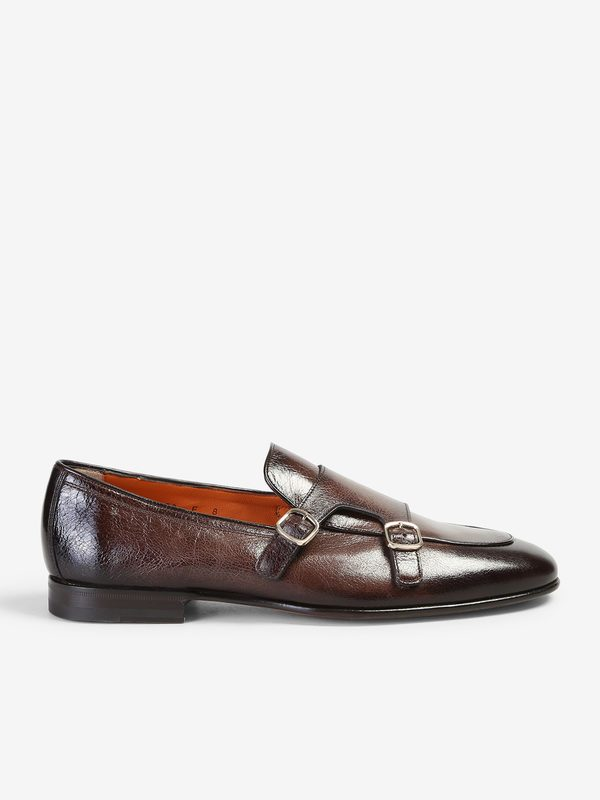 SANTONI - Leather monkstrap