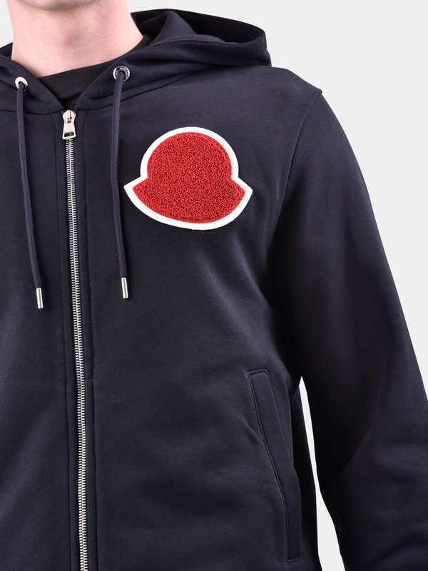 MONCLER - Patched cotton sweatshirt