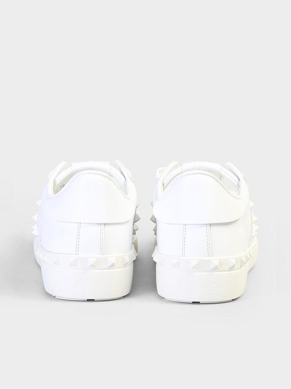 VALENTINO GARAVANI - Rockstud Untitled leather sneakers