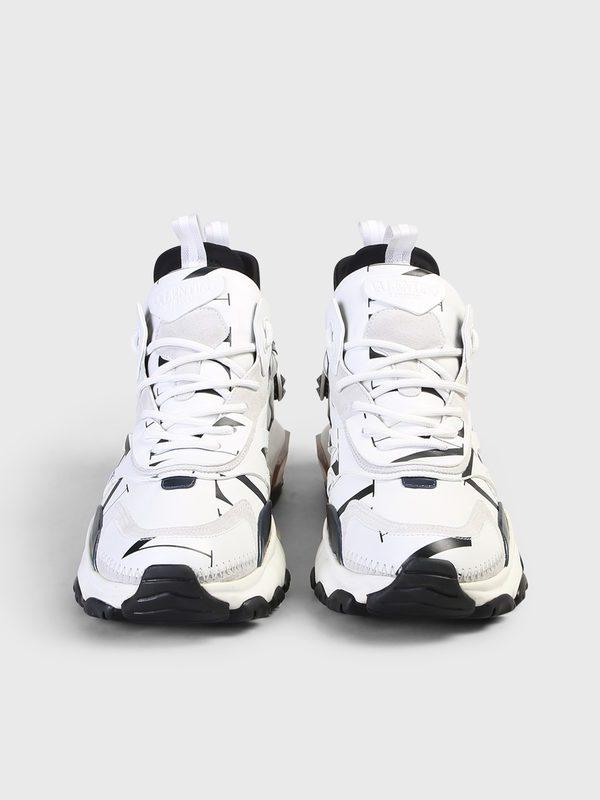 VALENTINO GARAVANI - Bounce leather sneakers