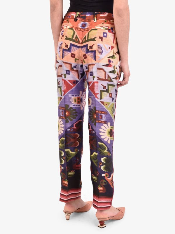 FOR RESTLESS SLEEPERS - Printed twill trousers