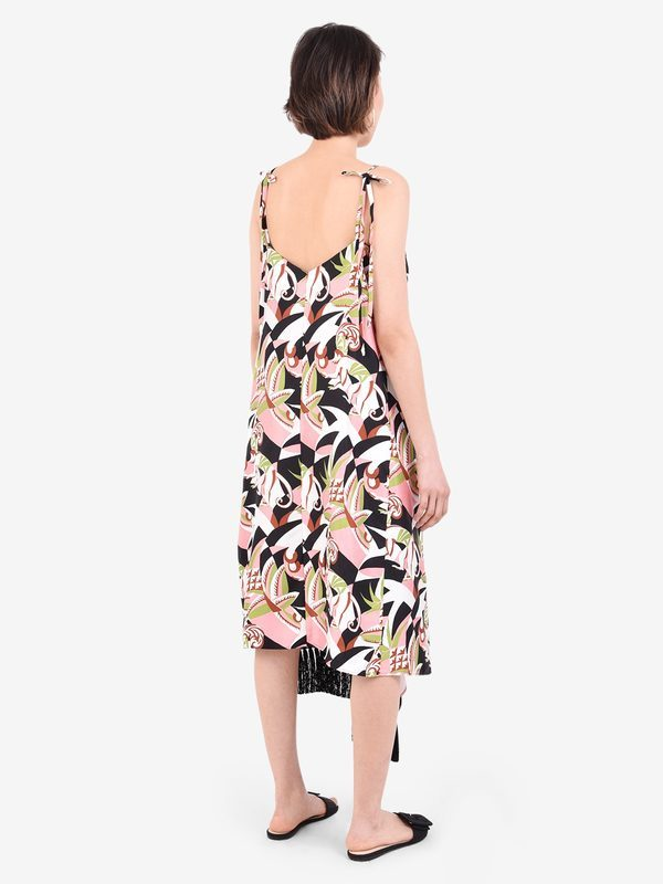 LA DOUBLE J - Printed silk dress