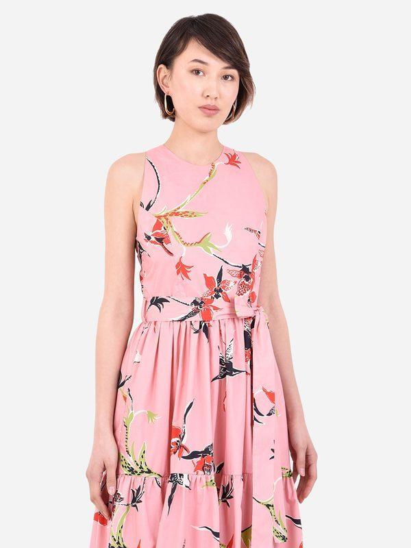 LA DOUBLE J - Floral print cotton dress