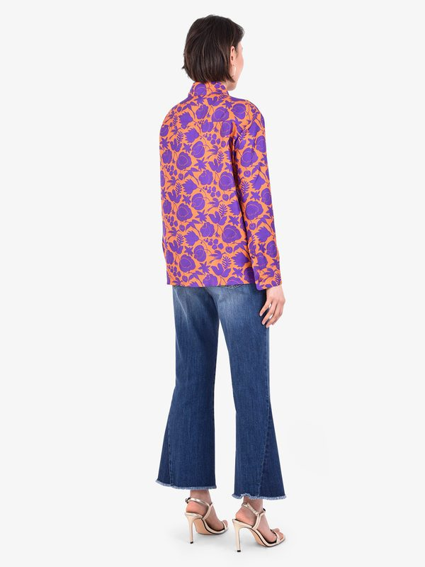 LA DOUBLE J - Printed silk twill shirt