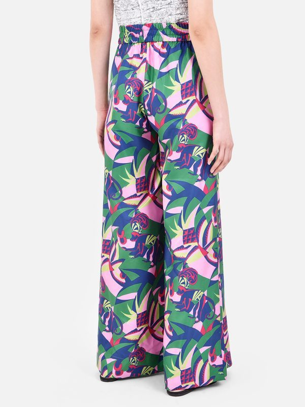 LA DOUBLE J - Jungle print silk trousers