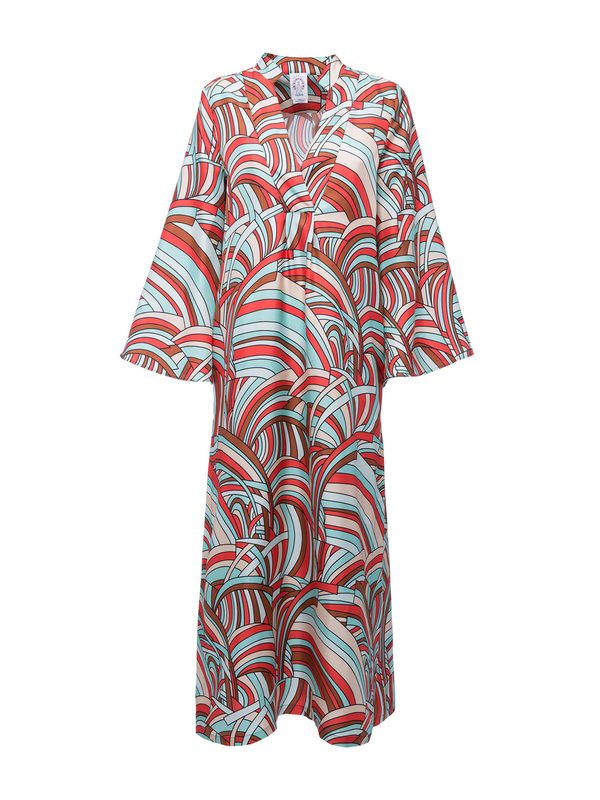 LA DOUBLE J - Printed silk caftan dress