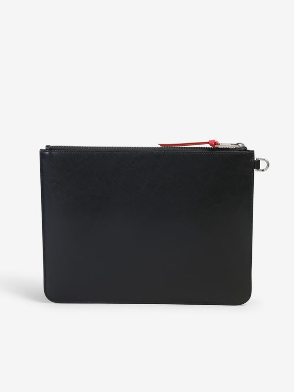 GIVENCHY - Logo band leather pouch