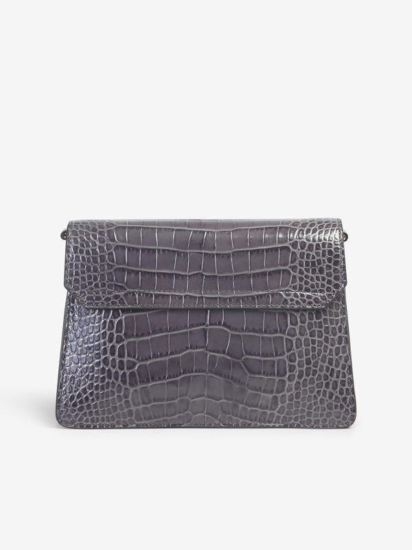 GIVENCHY - Small GV3 crocodile embossed leather bag