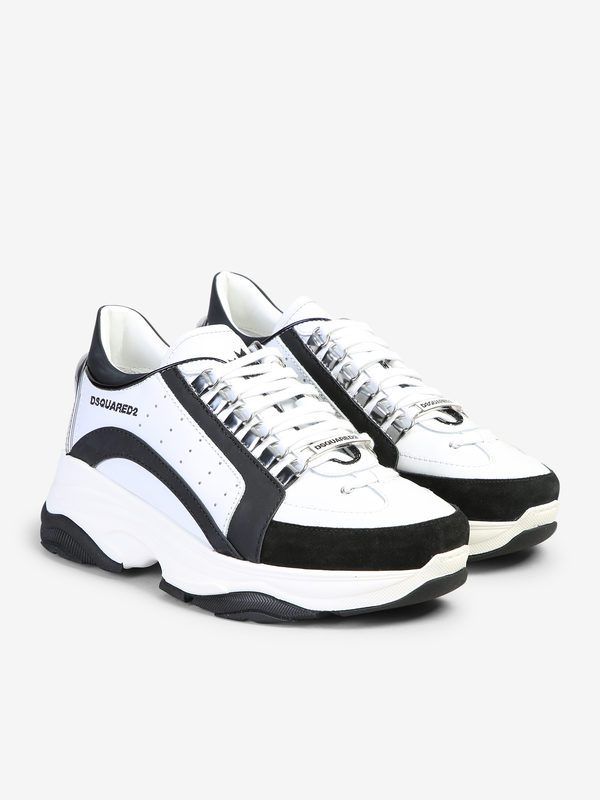 DSQUARED2 - Rubber inserts leather sneakers