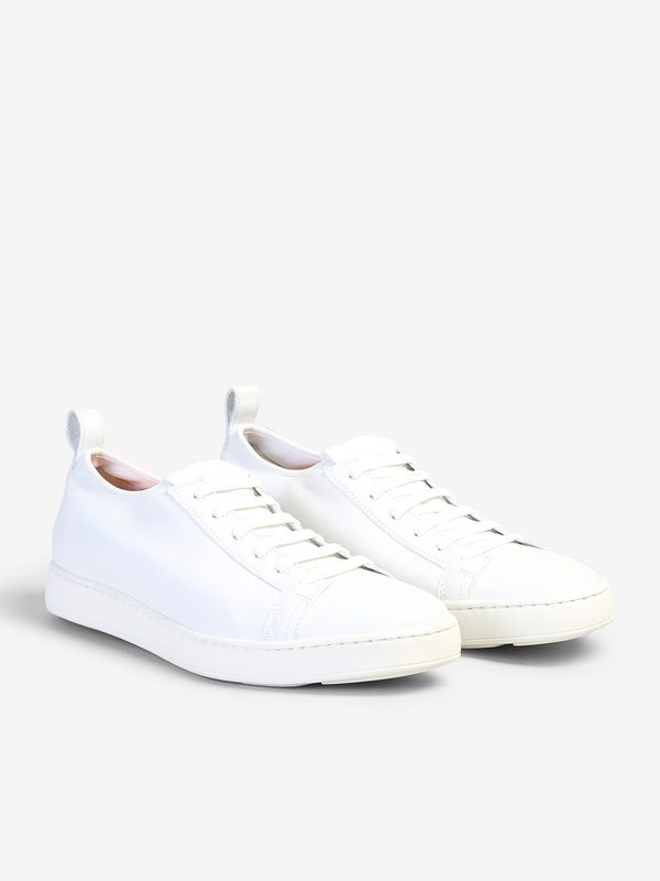 SANTONI - Cleanic stretch leather sneakers