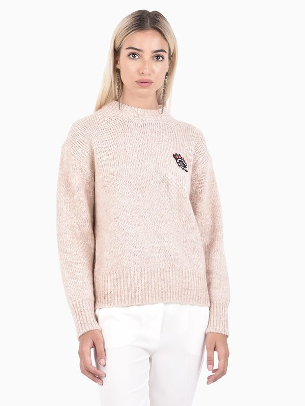 KENZO - Embellished mohair blend sweater