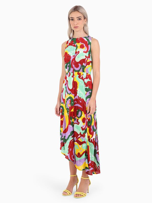 LA DOUBLE J - Pina silk and viscose dress