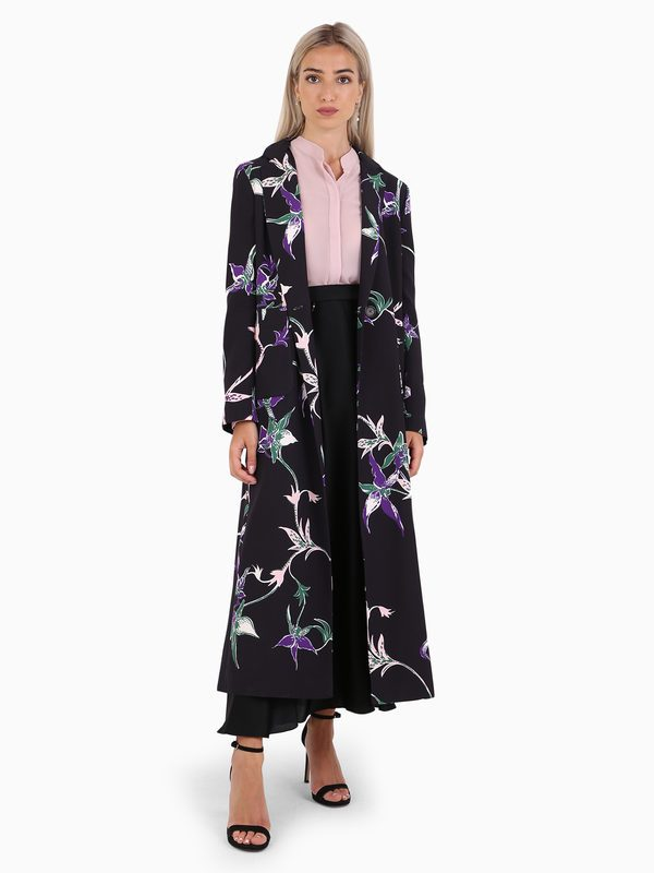 LA DOUBLE J - Printed viscose coat