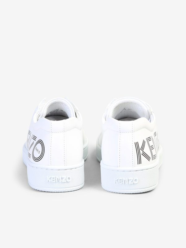 KENZO - Logo print leather sneakers