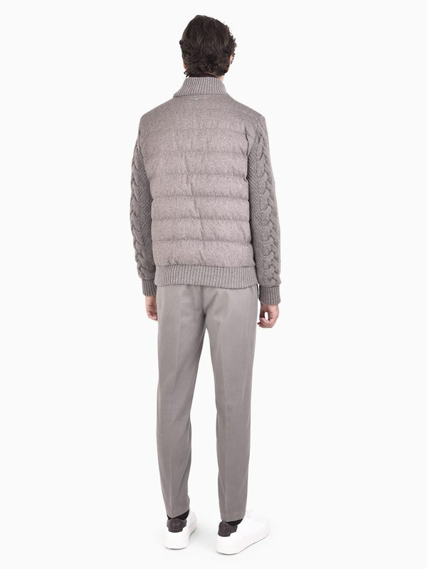 HERNO - Silk and cashmere padded jacket