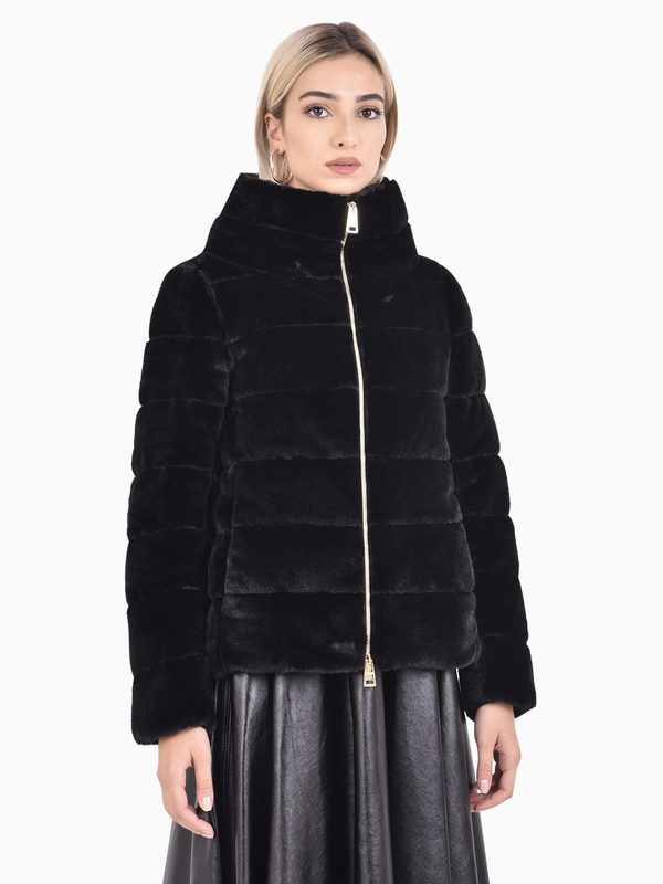 HERNO - Faux fur padded jacket