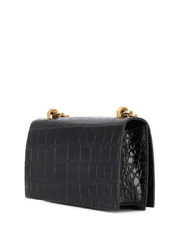 ALEXANDER MCQUEEN - Crocodile print leather bag