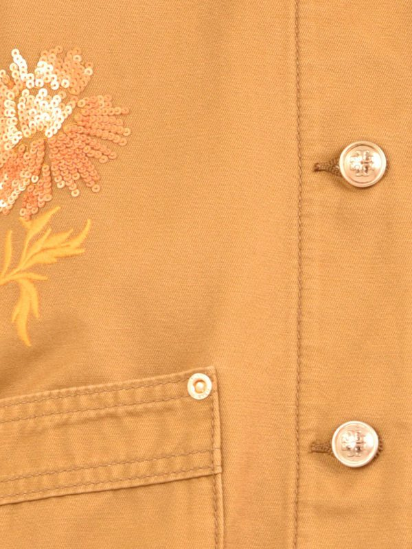 TORY BURCH - Embroidered denim jacket