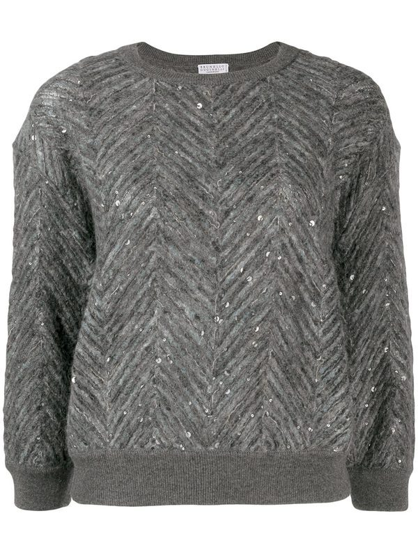 BRUNELLO CUCINELLI - Cashmere and wool blend sweater