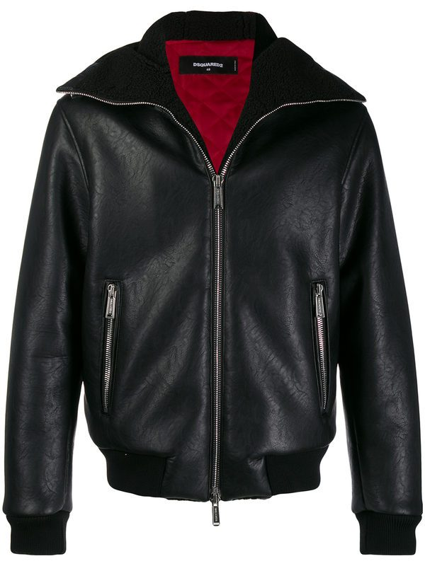 DSQUARED2 - Faux-leather jacket