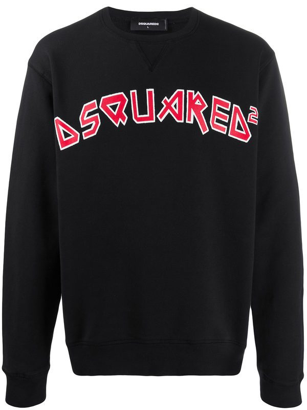 DSQUARED2 - Logo print cotton sweatshirt
