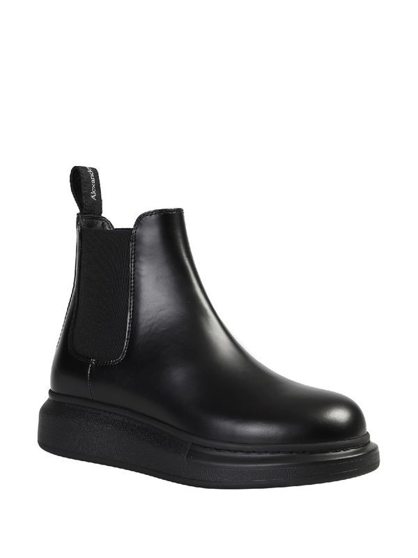 ALEXANDER MCQUEEN - Chelsea leather ankle boots