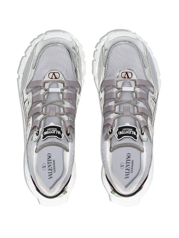 VALENTINO GARAVANI - Climbers Undercover mesh and leather sneakers