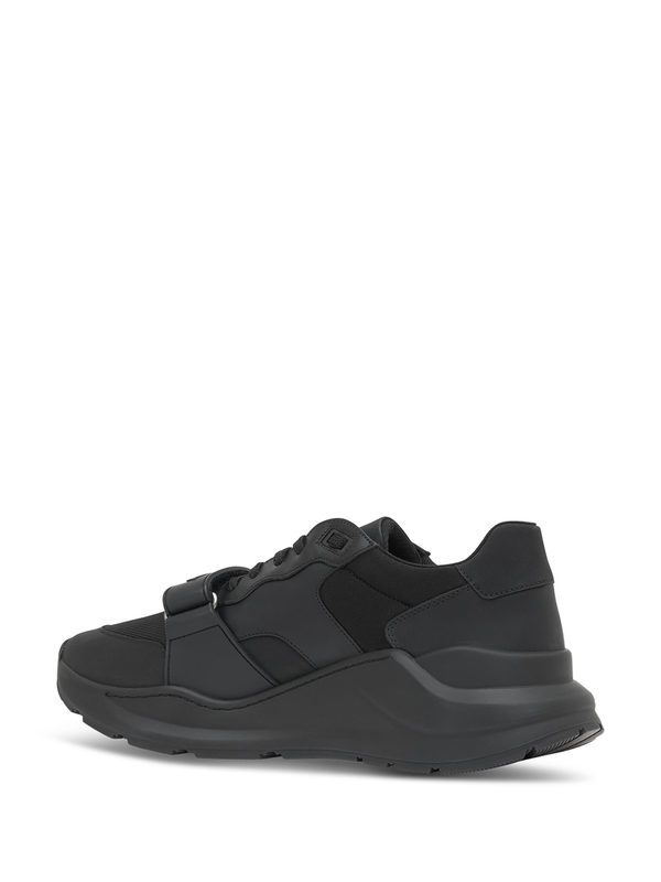 BURBERRY - Ramsey leather sneakers