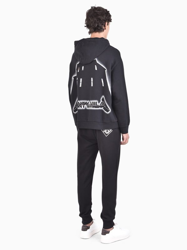 MARCELO BURLON - Printed and embroidered cotton hoodie