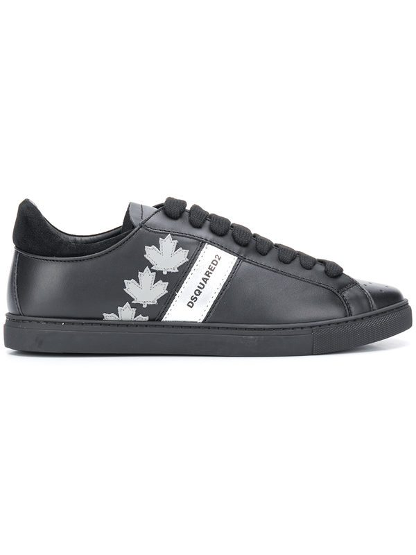 DSQUARED2 - Patched leather sneakers