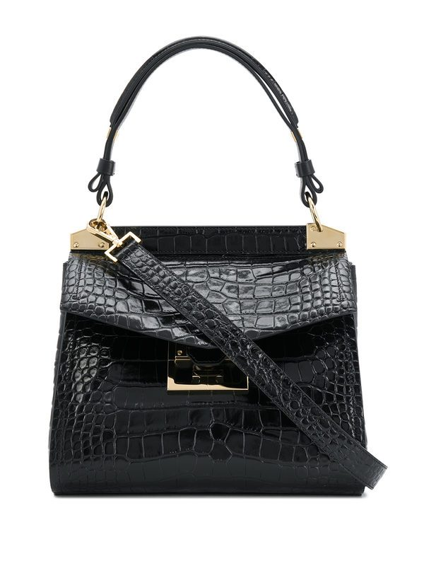GIVENCHY - Small Mystic cocodrile print leather bag