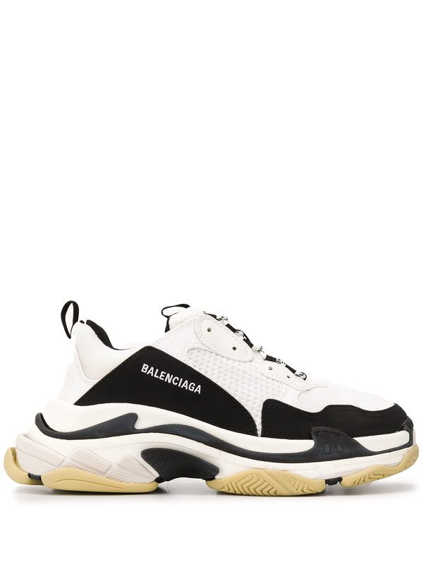 BALENCIAGA - Triple S mesh and leather sneakers