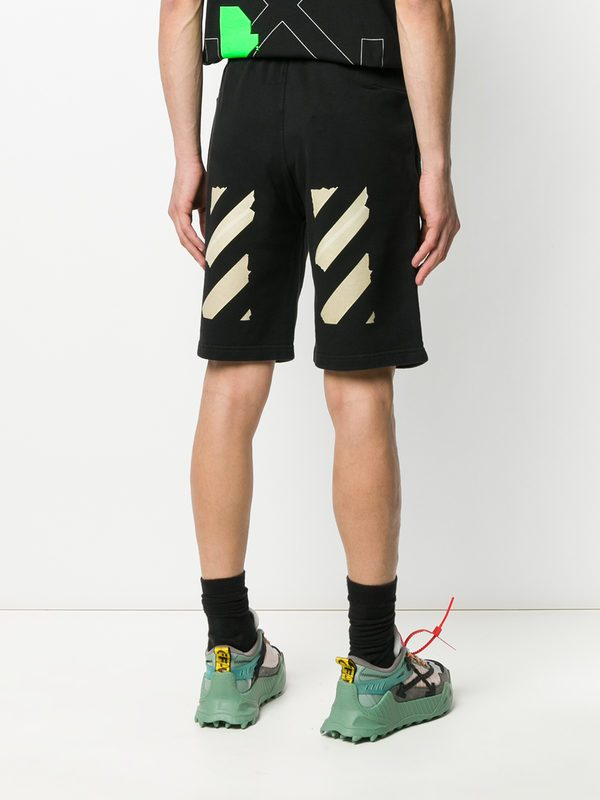 OFF-WHITE - Printed cotton shorts