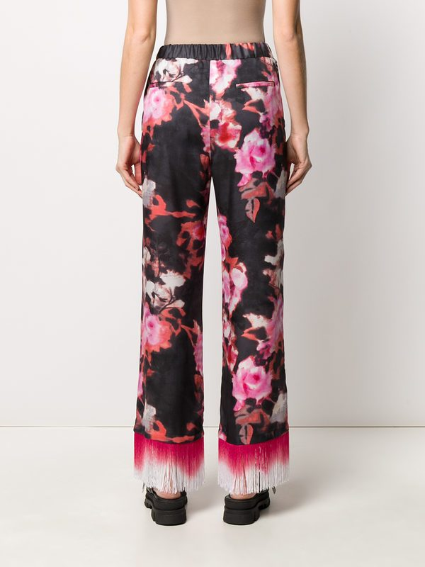 MSGM - Floral print trousers