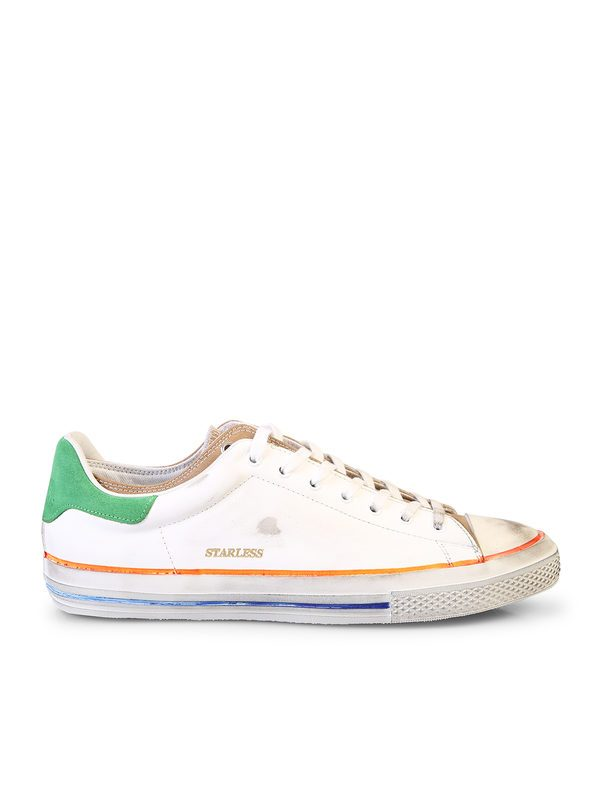 HIDNANDER - Denim and leather sneakers