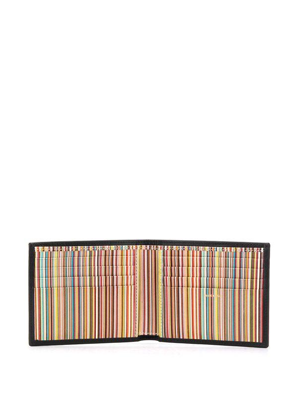 PAUL SMITH - Logo print leather wallet